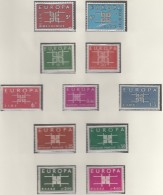 EUROPA CEPT 1963, Postfrisch **, Gemeinschaftsausgaben Komplett, 36 Marken, Ornament - 1963