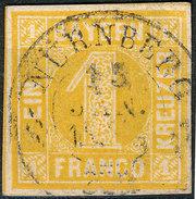 Stamp German States  Bavaria 1862 1kr Used Lot3 - Bavaria
