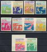Albania 1964 _ Olympic Games - Tokyo, Japan - New Colors _ Full Set - MNH** - Albania