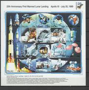 Palau 1994 Space Apollo 11 Sheetlet MNH