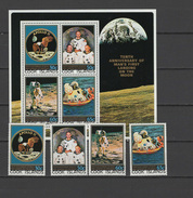 Cook Islands 1979 Space Apollo 11 Set Of 4 + S/s MNH