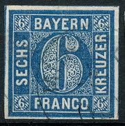 Stamp German States  Bavaria 1862 6kr Used Lot62 - Bavaria