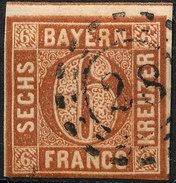 Stamp German States  Bavaria 1850-58 6kr Used Lot72 - Bavaria