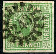 Stamp German States  Bavaria 1850-58 9kr Used Lot4 - Bavière