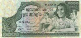 CAMBODIA 1000 RIELS ND (1972) P-17a UNC  [KH117a] - Cambodia