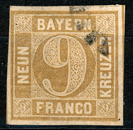 Stamp German States  Bavaria 1862 9kr Used Lot35 - Beieren