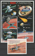 Palau 1996 Space Mars Sheetlet + S/s MNH - Raumfahrt