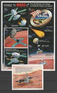 Palau 1996 Space Mars Sheetlet + S/s MNH