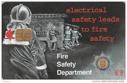 GUERNSEY ISL. - Fire Safety Week 3, Tirage 4000, Used