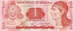 HONDURAS 1  LEMPIRA 2008 P-89a UNC  [ HN89a ] - Honduras