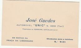 José Guedes :: Taxi :: - Cartoncini Da Visita