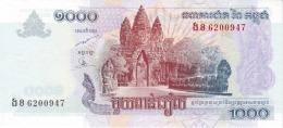 CAMBODIA 1000 RIELS 2007 P-58b UNC  [KH421b] - Cambodia