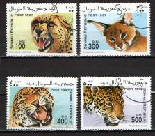 SOMALIA - 1997 - FAUNA SELVATICA: FELINI - USATI - Somalia (1960-...)