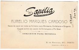 Sapélia :: Aurelio Marques Cardoso :: Porto :: Holed - Visiting Cards