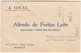 A Ideal :: Alfredo De Freitas Leite :: Vizela :: Holed - Cartoncini Da Visita