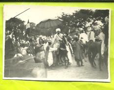 PHOTO Fête Du Ramadan Arrivée Du SULTAN  Devant La Mosquée De FOUMBAN (CAMEROUN) - Le 18 Aout 1947 - Afrique