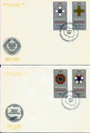 Poland, Order Crosses: Grunwald Cross Medal, Polonia Restituta, Work Banner, Builders Of A People's Poland. FDC 1984 - FDC
