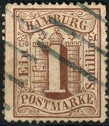 Stamp German States Hamburg  1864-65 1s Used  Lot2 - Hamburg