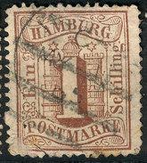 Stamp German States Hamburg  1864-65 1s Used  Lot3 - Hamburg