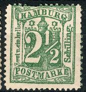 Stamp German States Hamburg  1867 2 1/2s Mint Lot41 - Hamburg (Amburgo)