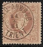 AUSTRIA 1867/80 - Yvert #39 - VFU - Usati