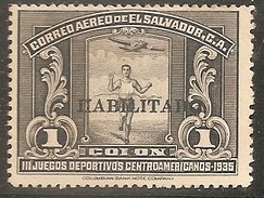 EL SALVADOR 1935 - Yvert #A40 (Aereo) - Sin Goma (*) - El Salvador