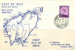 PA1784 Isle Of Man 1962 Map Commemorative Envelope MNH - Isola Di Man