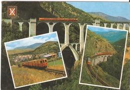 CPM - Multivues - FRANCE '66) - Le Petit Train De Cerdagne - Eisenbahnen