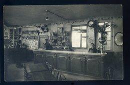 Cpa Carte Photo Du 45 Intérieur D' Un Café Bar Comptoir Zinc Photographe Jaques à Orléans  YPO2 - Orleans