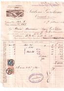 CIRIMIDO COMO  FATTURA FISCALE TAX BILL MARCA DA BOLLO REVENUE FISCALI  ITALIA 1924 CALZATURIFICIO LARIO - Italia