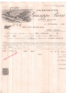 BUSTO ARSIZIO  FATTURA FISCALE TAX BILL MARCA DA BOLLO REVENUE FISCALI  ITALIA 1924 CALZATURIFICIO BORRI - Italia