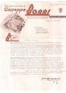 BUSTO ARSIZIO  FATTURA FISCALE TAX BILL MARCA DA BOLLO REVENUE FISCALI  ITALIA 1939 CALZATURIFICIO BORRI - Italia