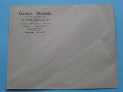 GARAGE ALOSTOIS ( Omslagen : 5 Stuks Toegekleefde Enveloppes ) Tél 162 Et 44 ALOST ( Aalst - België / Zie Foto ) ! - Publicités