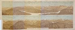 Carte Géographique: Panorama Baedeker 1907 - Panorama Del Monte Generoso - Lago Di Lugano, L. Di Como - Cartes Géographiques