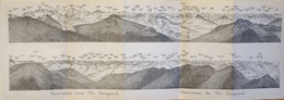 Carte Géographique: Panorama Baedeker 1907 - Panorama Vom Du Piz Languard (Suisse, Grisons) - Carte Geographique