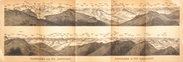 Carte Géographique: Panorama Baedeker 1907 - Panorama Vom (du) Piz Languard (Suisse, Grisons) - Geographical Maps