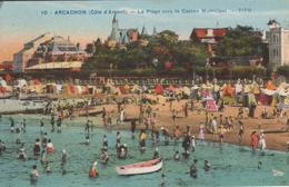 33ARC01A3 CPA 33 - 10. ARCACHON LA PLAGE VERS LE CASINO MUNICIPAL     1952 - Arcachon