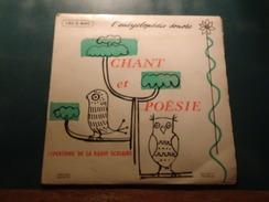Encyclopédie Sonore, Chant Et Poésie, Répertoire De La Radio Scolaire 1959-1960, 3ème Trimestre, Réf : 190 E 840, TBE - Children