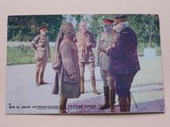 Sir D. HAIG Introducing Sir PERTAB SINGH To .... ( Copyright Official War Photo ) Serie 1 N° 6  ( Zie Foto Details ) !! - Personen