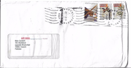 South Africa Airmail 2010 Beadwork Miner, Neckpiece, Zulu, Necklace, Swazi Beaded Artwork Postal History Cover - Afrique Du Sud (1961-...)