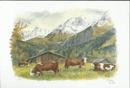 """Aquarelle Terra Vecchia - """"La Vie En Montagne"""" - T 188 - Chaîne Du Mt-Blanc - Künstlerkarten"""