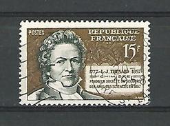 1957 N° 1139 CACHET 20.1.1958  GARE  CHIMISTE L.J. THENARD OBLITÉRÉ 2 SCANNE - Gebraucht