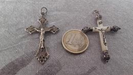 2 Croix Argent,silver. - Religion & Esotérisme