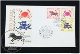 FDC Cover - Spanish Colonies: Riu Muni -  Zodiac Topic (Cancer, Taurus, Gemini) - Edifil 83/85 - Year 1968 - Río Muni