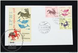 FDC Cover - Spanish Colonies: IFNI  -  Zodiac Topic (Pisces, Aries, Sagittarius) - Edifil 233/235 - Year 1968 - Ifni