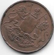 *britisch India Bombay 1/4 Anna   1833 Km 232   Vf Catalog Val 55,00$ - India