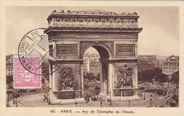 Carte Maximum FRANCE  N° Yvert 625 (ARC DE TRIOMPHE) Obl Sp Ill Libération 11.44 (Ed Boisson) - Maximum Cards