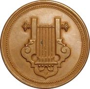 ESPAÑA. ISABEL II. MEDALLA PREMIO AL MÉRITO DEL CONSERVATORIO DE MÚSICA DEL LICEO DE BARCELONA. ESPAGNE. SPAIN MEDAL - Monarquía/ Nobleza