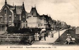 HERMANVILLE -14- DIGUE PROMENADE VERS LION SUR MER - Autres Communes