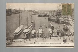 Cp, Bateaux , 13 , MARSEILLE , Vue Sur Le Port Et Le Pont Transbordeur , Voyagée 1918 - Marseilles
